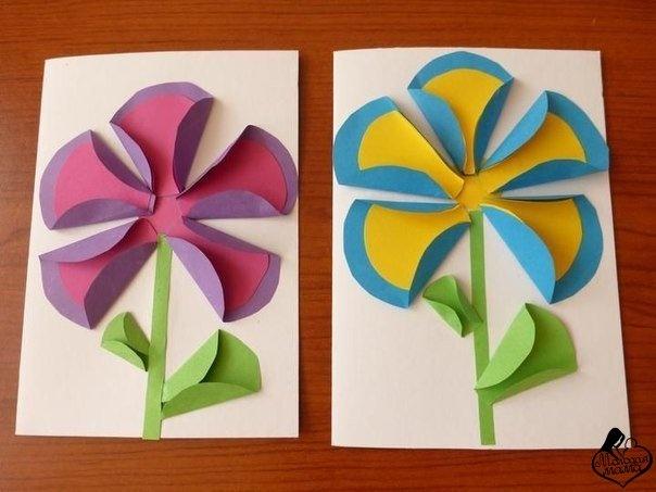 Объемные поделки из цветной бумаги для детей 4-5 лет