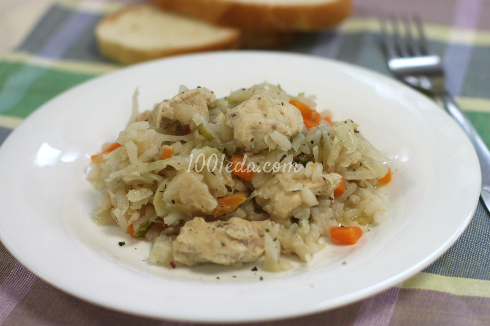 Тушеная капуста с рисом рецепт с пошагово в кастрюле