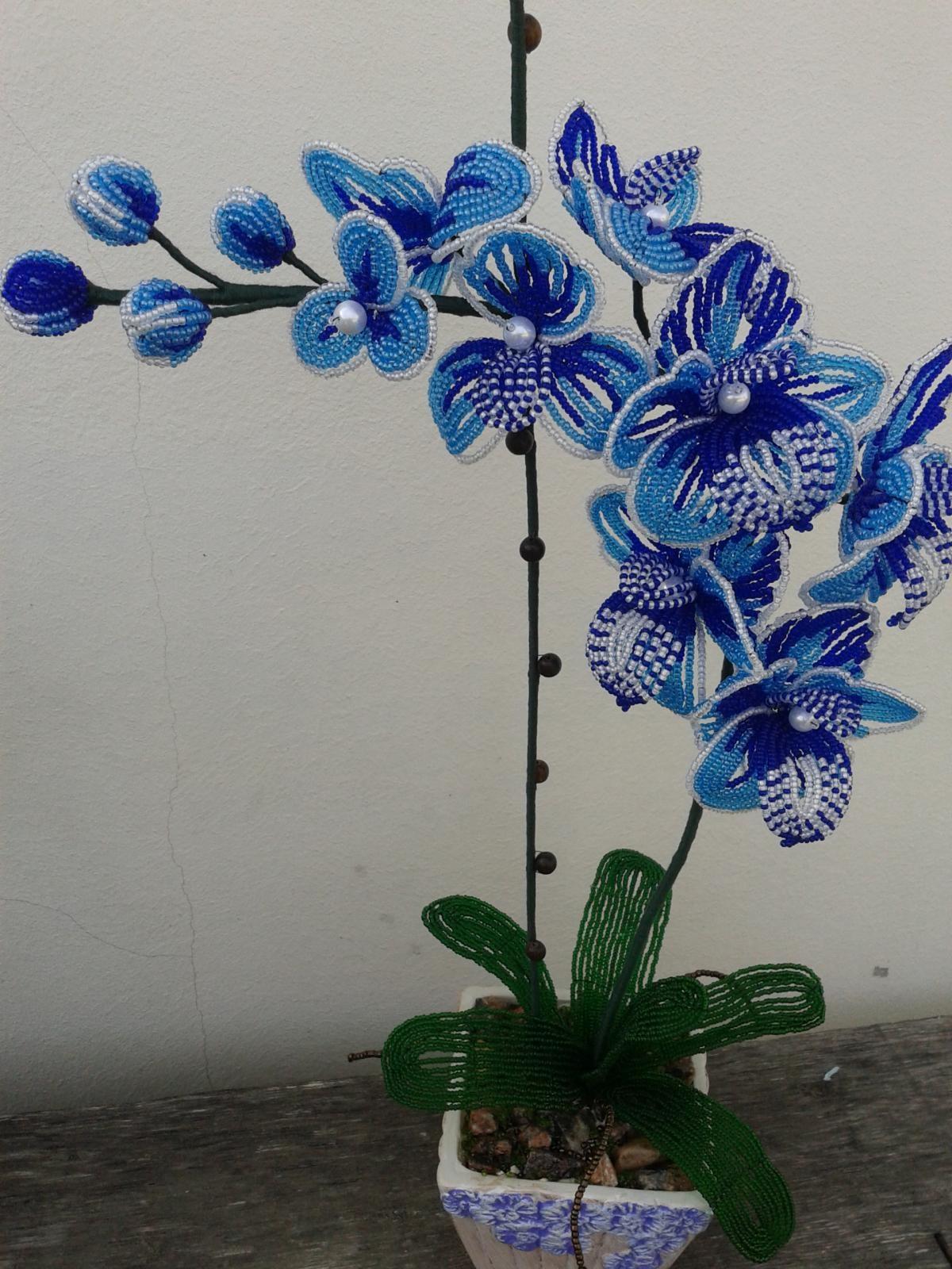 Листья орхидеи из бисера мастер класс с пошаговым