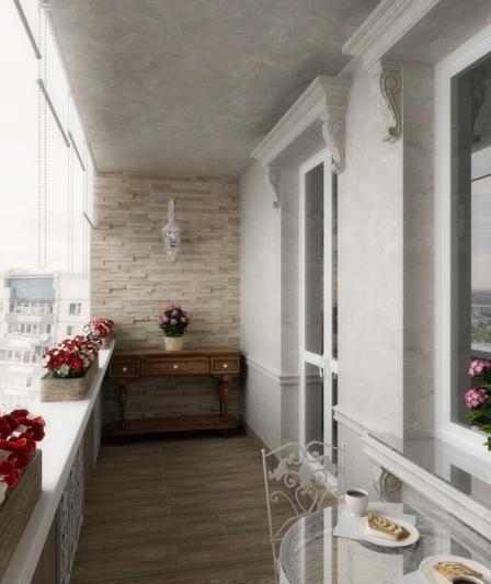 Дизайн балконов в панельных домах