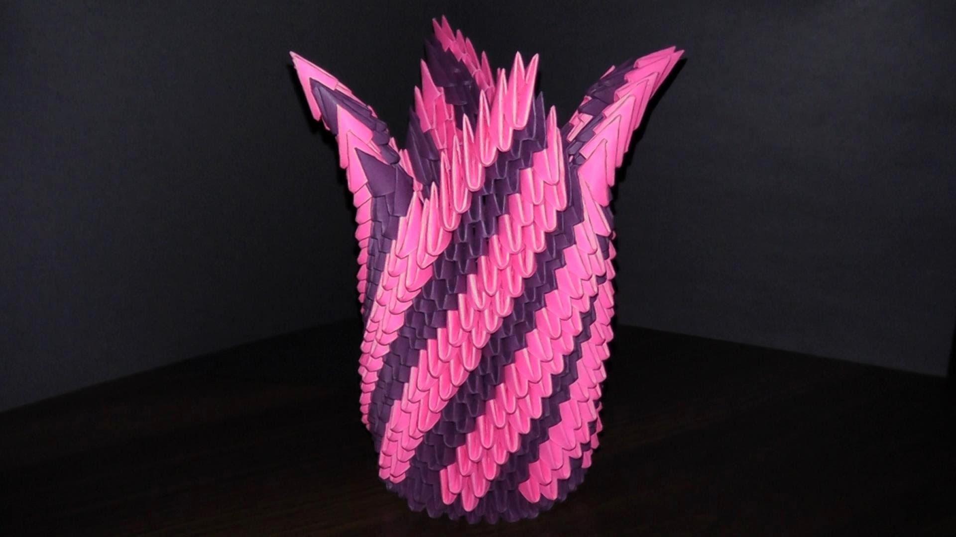 Как сделать вазу из бумаги модульное
