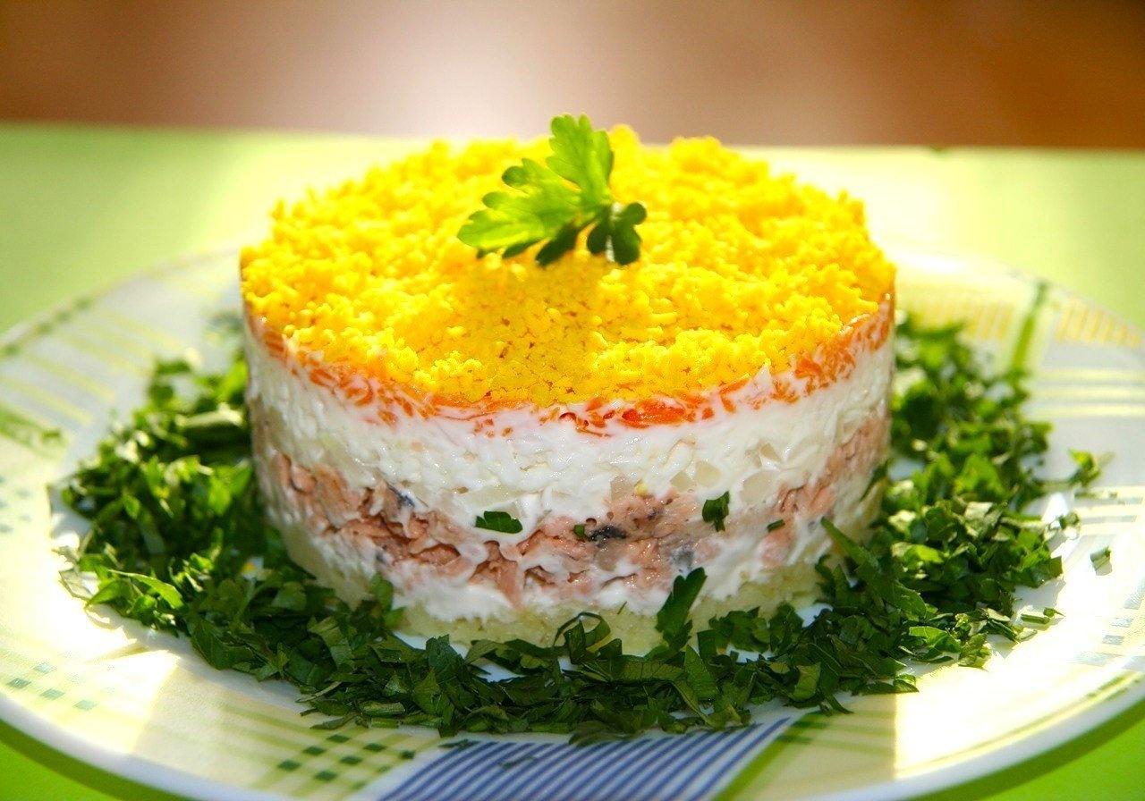 Салат мимоза классический с сыром фото пошаговый
