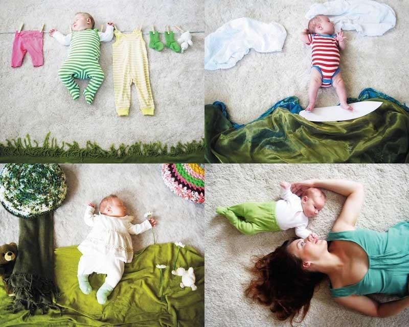 Фотосессии новорожденных в домашних условиях идеи фото