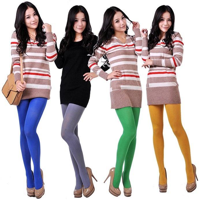 Фото девушек в цветных колготках