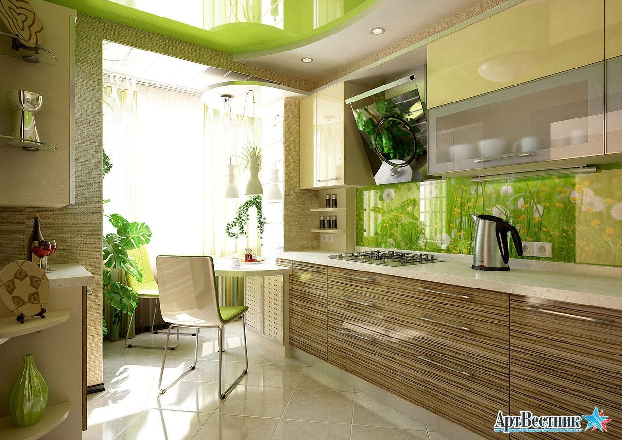 Кухня с балконом: советы дизайнеров, фото дизайна - 17 фото .
