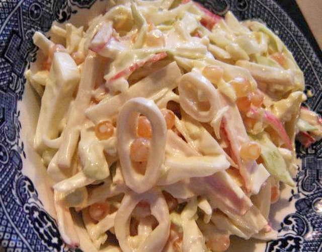 Салаты из кальмаров рецепты с фото очень вкусные
