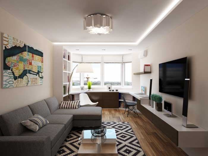 Дизайн интерьера однокомнатной квартиры 40 квм  100 фото