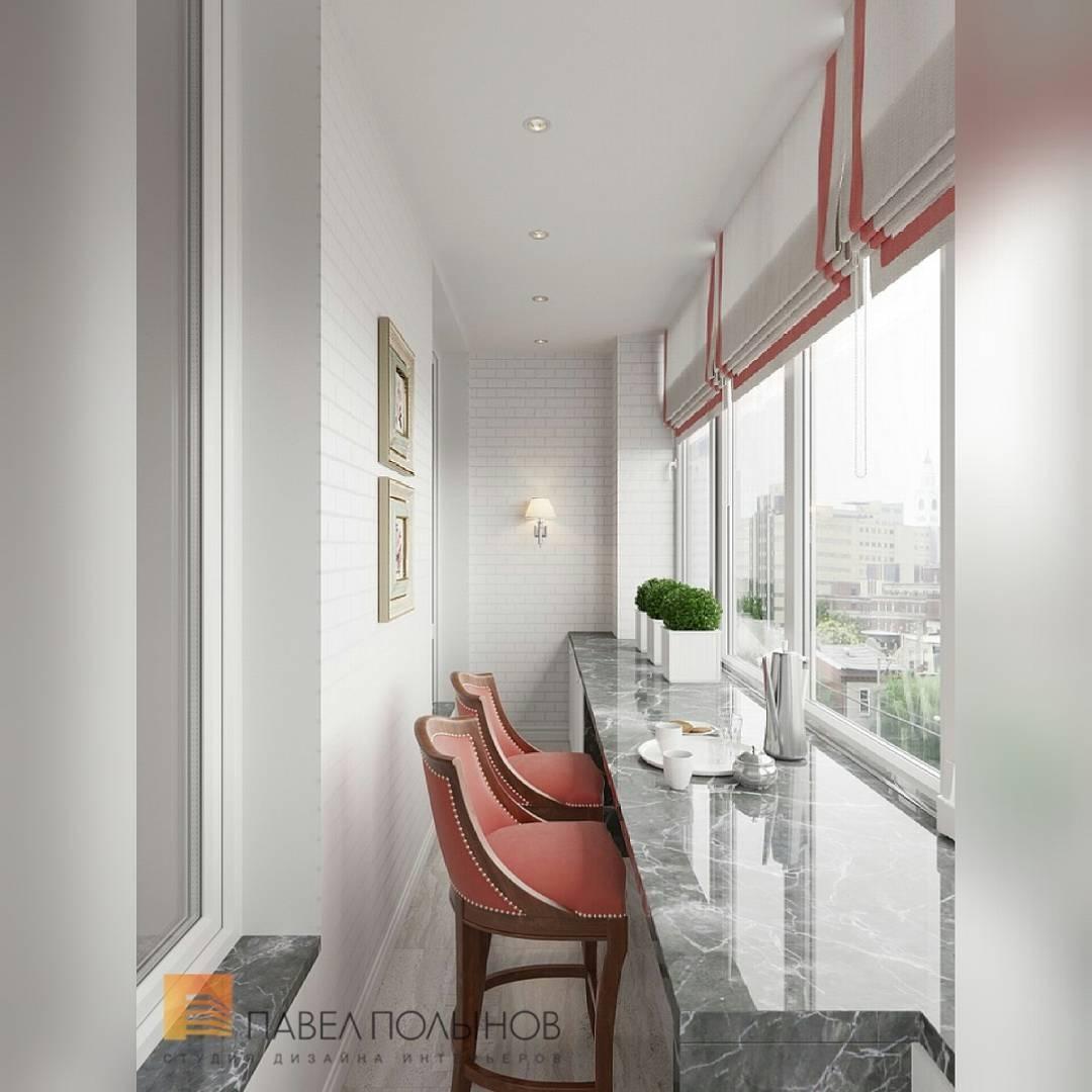 Фото: интерьер лоджии - интерьер квартиры в классическом сти.