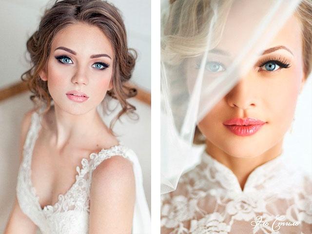 Свадебные макияжи для карих глаз Фото видео