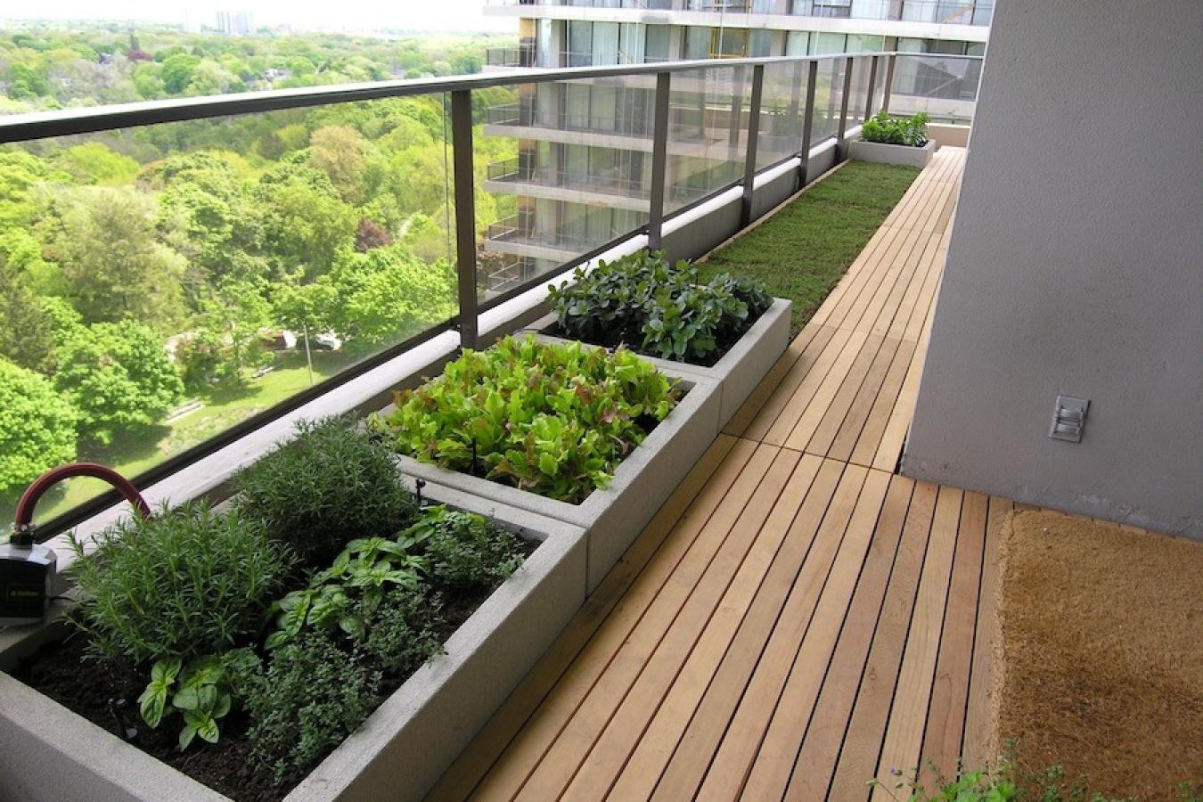 "Озеленение балкона по принципу ""сад на квадратном футе"""" - к."