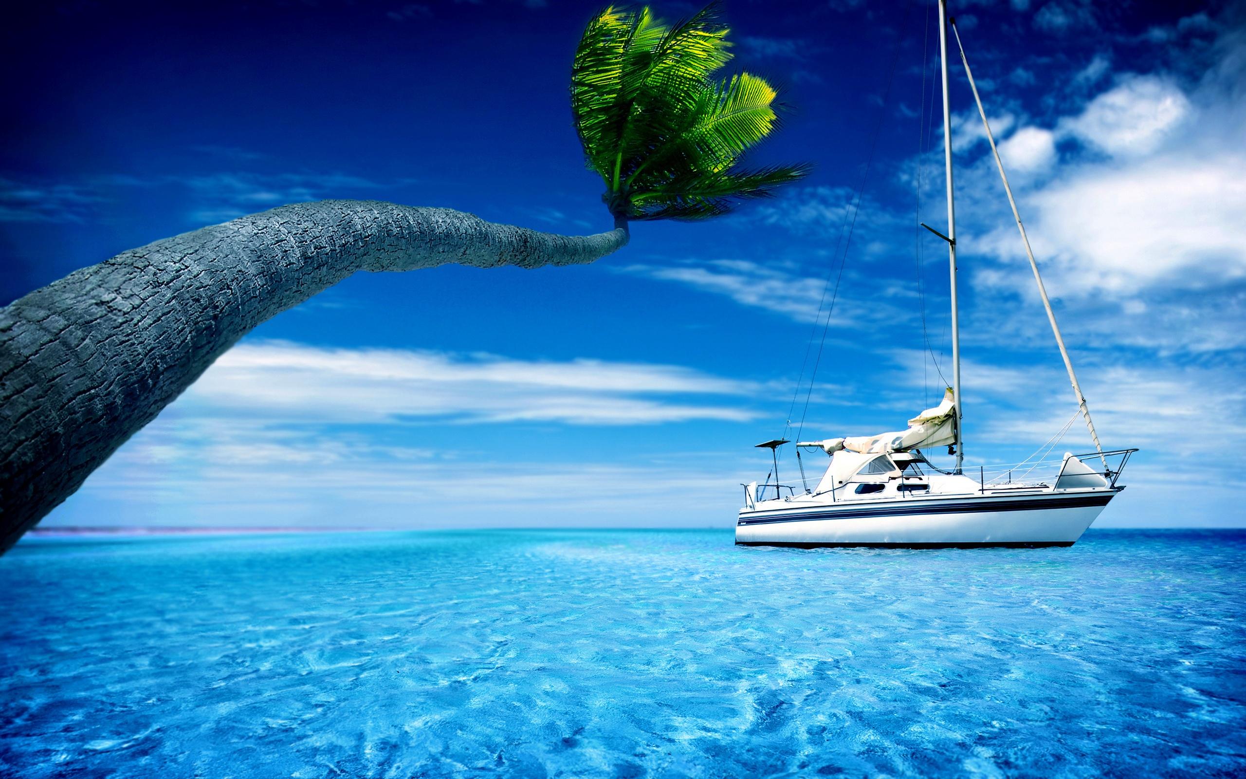 3840x2400 wallpaper ocean boat - photo #1