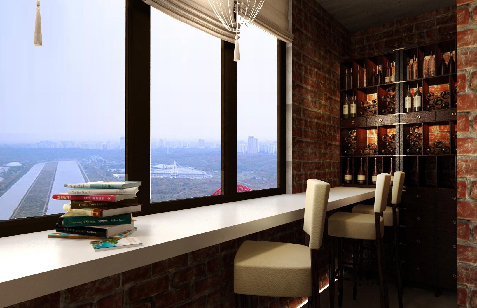 Барная стойка на балконе (49 фото): особенности стойки вмест.