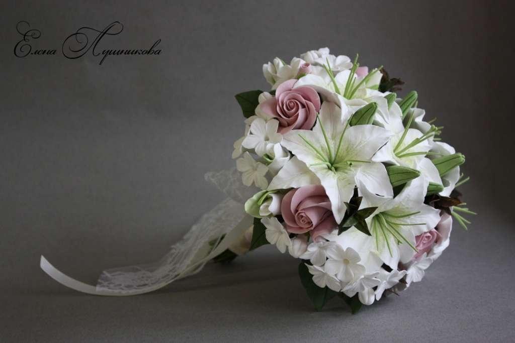 как сделать свадебный букет из лилий