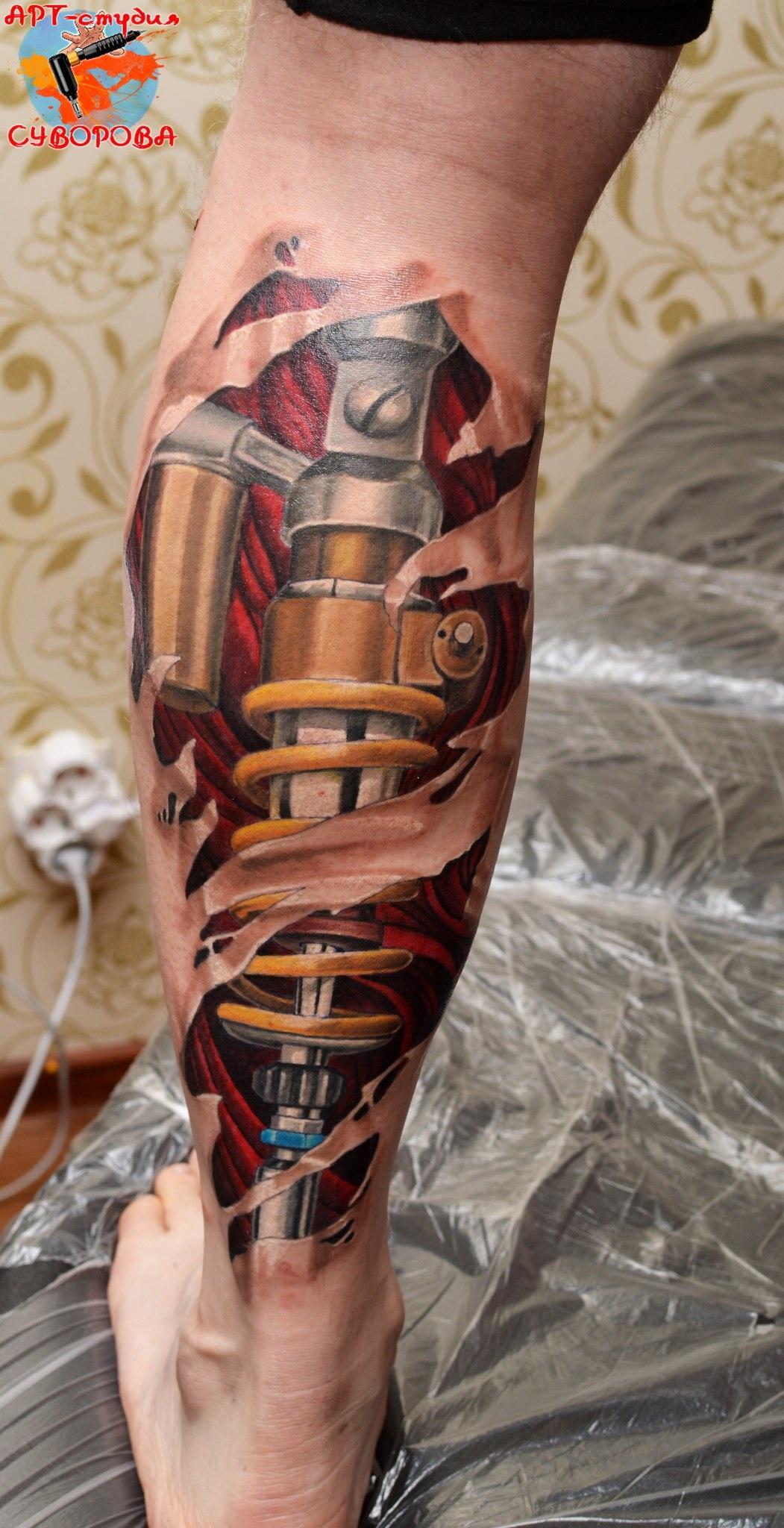 Татуировка на икре фото 5