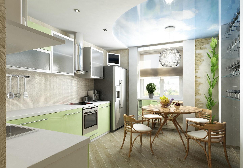 Дизайн кухни совмещенной с балконом фото дизайн кухни - фото.