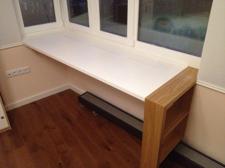 Письменный стол-подоконник - фото лучших идей по сочетанию в.