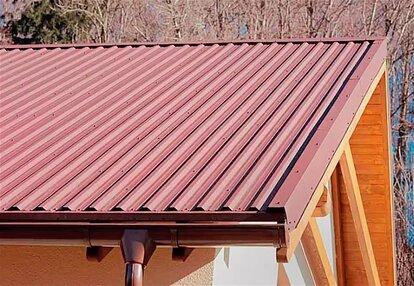 перекрытие крыши профнастилом своими руками